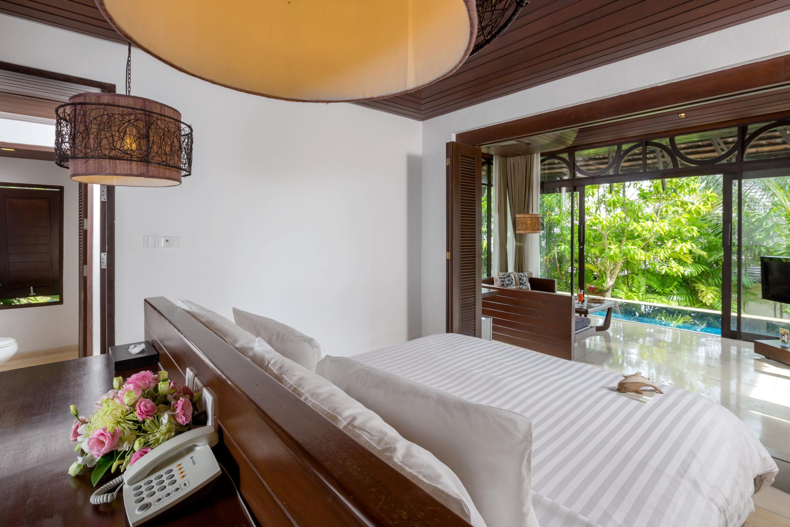 004_Two-Bedroom Pool Villa_Master Bedroom_Leavingroom The Vijitt Resort Phuket
