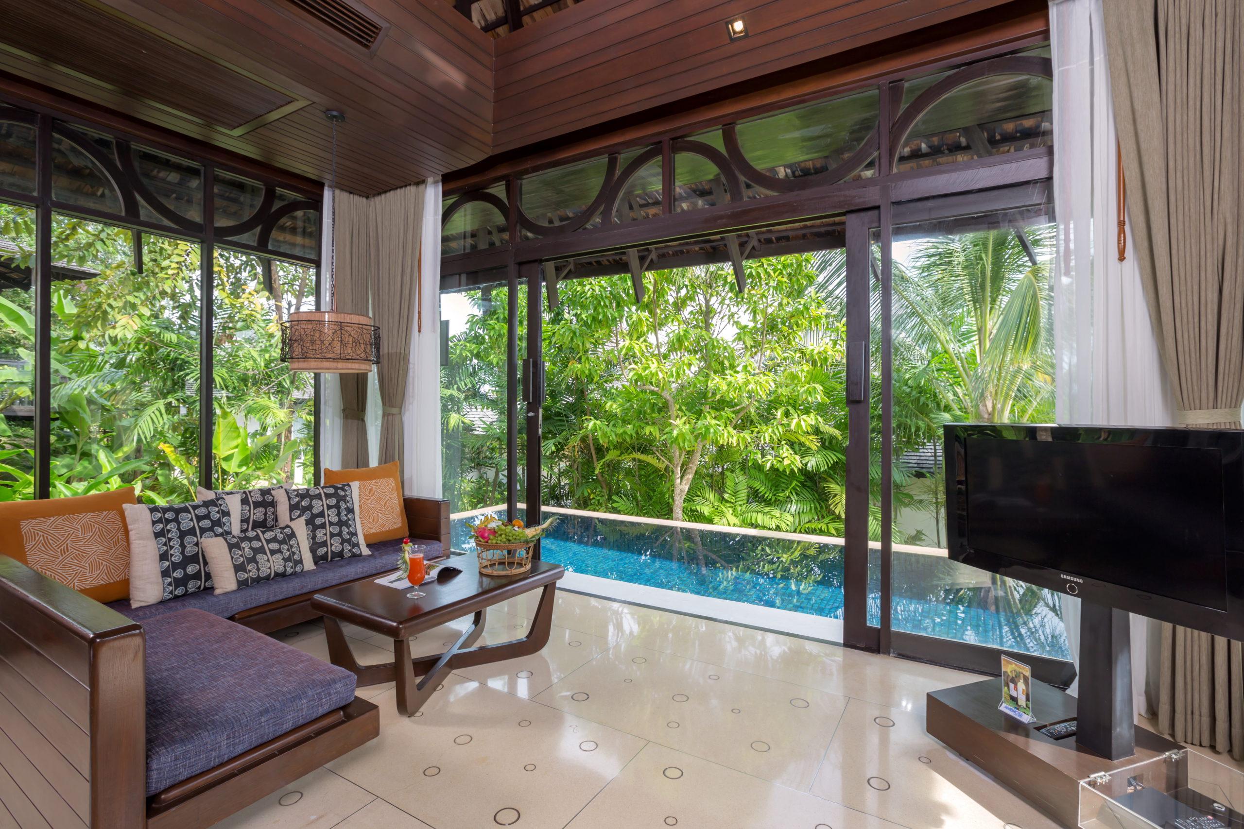 006_Two-Bedroom Pool Villa_Master Bedroom_Leavingroom The Vijitt Resort Phuket